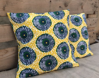 Yellow wax pillow cover
