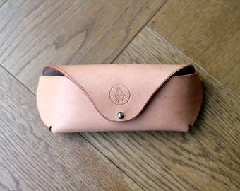 Glasses / Sunglasses Case in Natural Veg Tan Leather