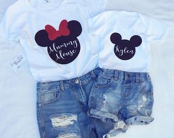 d3b742b837ea19 Mickey Minnie inspired t-shirts