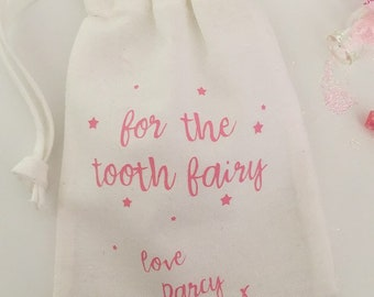 Personalised tooth fairy bag, tooth fairy pouch