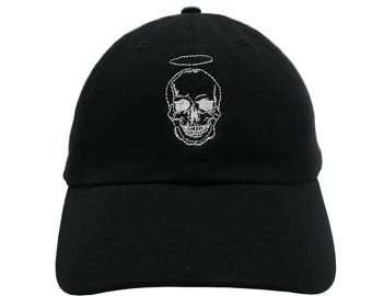 b49de56c849 Skull Embroidered Cap Dad cap dad hat embroidered baseball cap Skull hat  unisex cap