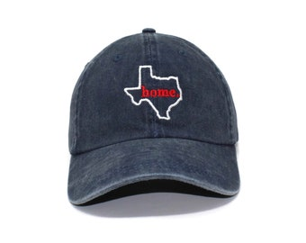 lowest price b7323 f7eea Texas Home Embroidered Cap dad hat embroidered baseball cap TX home hat  unisex cap