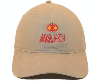 Awaken Embroidered Cap Dad cap dad hat embroidered baseball cap Awaken Third  Eye Red hat unisex cap d3d93fcbe965