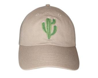 Cactus pink flower Embroidered Cap Dad cap dad hat embroidered baseball cap  Cactus hat unisex cap 6136ac898766