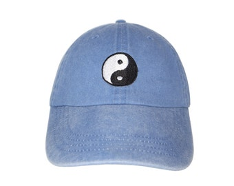 Yin and Yang Embroidered Cap Dad cap dad hat embroidered baseball cap  yinyang cap hat unisex cap e90d6f90166