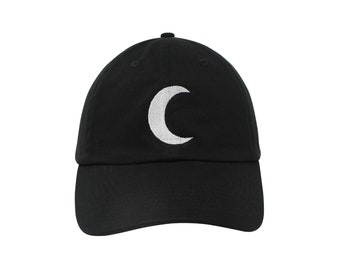 19af5cd0 Crescent Moon Embroidered Cap Dad cap dad hat embroidered baseball cap Moon  hat unisex cap