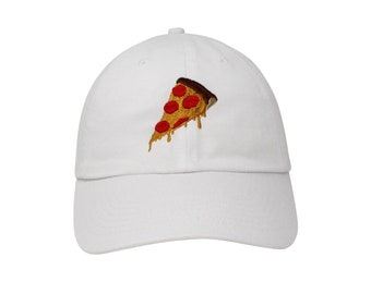 Pizza Embroidered Cap Dad cap dad hat embroidered baseball cap Pizza hat  unisex cap 65682ee9119