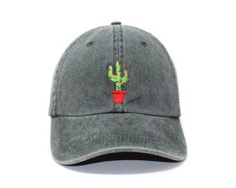 3db2d7d16c3 Cactus Christmas Tree Embroidered Cap Dad cap dad hat embroidered baseball cap  Christmas hat unisex cap