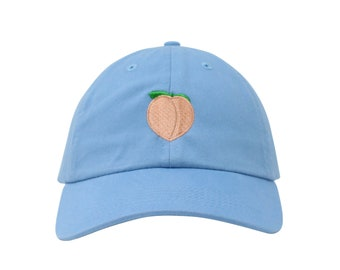 Peach Embroidered Cap Dad cap dad hat embroidered baseball cap Peach hat  unisex cap ebd84bbc680c