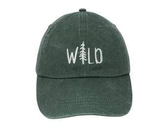 7c27cd886386d Wild Embroidered Cap Dad cap dad hat embroidered baseball cap Wild child hat  unisex cap