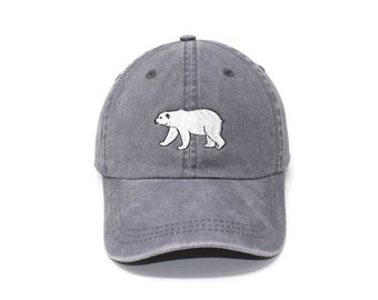 Polar Bear Embroidered Cap dad hat embroidered baseball cap Polar Bear hat  unisex cap ee28a9b488d