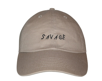 Savage Embroidered Cap Dad cap dad hat embroidered baseball cap Savage hat  unisex cap 82a6c1345bf6