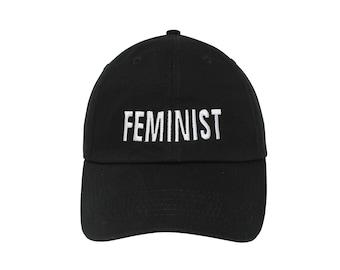 566a96b541cc9 Feminist Embroidered Cap Dad cap dad hat embroidered baseball cap Feminist  hat unisex cap