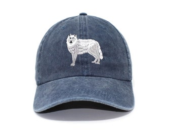 820e098f6d5cc Grey Wolf Embroidered Cap dad hat embroidered baseball cap Wolf hat unisex  cap