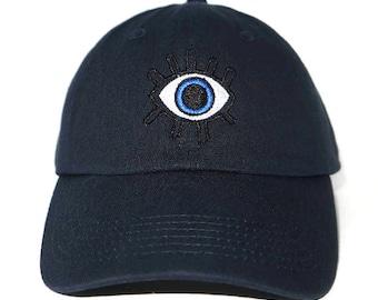 abb24da8584 Third Eye Embroidered Cap Dad cap dad hat embroidered baseball cap All  seeing eye hat unisex cap