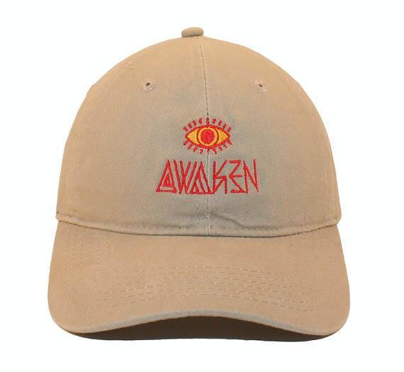 7e91f7e131f Awaken Embroidered Cap Dad cap dad hat embroidered baseball cap Awaken  Third Eye Red hat unisex cap