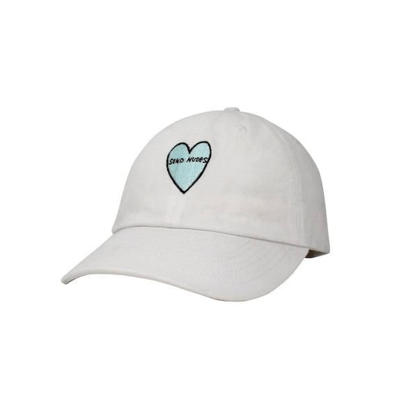 aa4dbbed9ce Send Nudes Heart Embroidered Cap Dad cap dad hat embroidered