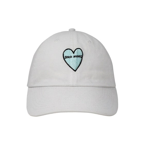 abf871337a594 Send Nudes Heart Embroidered Cap Dad cap dad hat embroidered