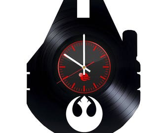 Star Wars Millenium Falcon Vinyl Record Wall Clock