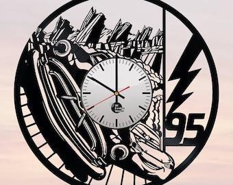 Lightning MCQueen Cars Vinyl Record Wall Clock