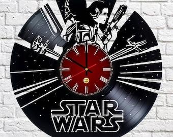 Darth Vader Princess Leia  Vinyl Record Wall Clock
