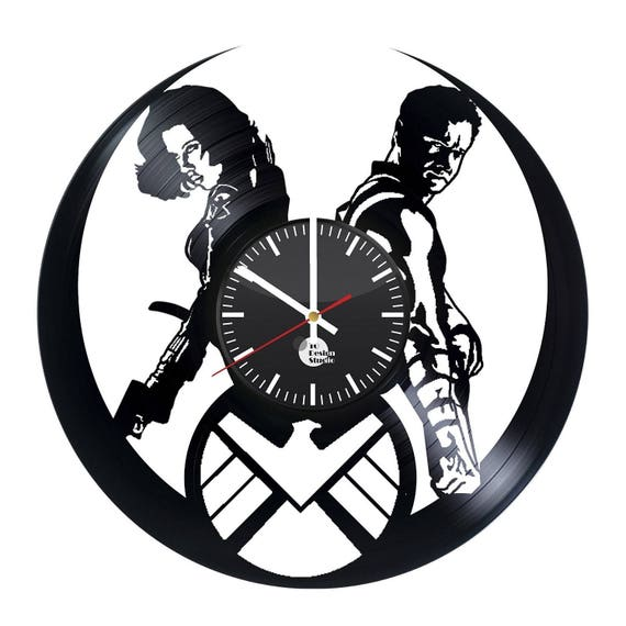 The Avengers Hawkeye Vinyl Record Wall Clock Home Decor Etsy