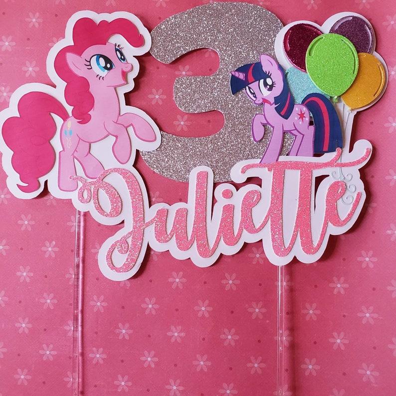 My little pony cake topper/ Pinkie pie cake topper | Etsy