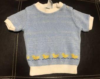 SALE Vintage Kids Duck Sweater Babycrest 18 months Made in Israel