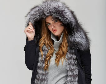 Winter Parka with Siver Fox