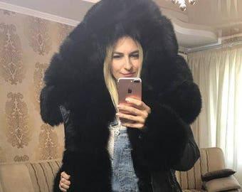 Luxury Winter Parka with Arctic  Fox