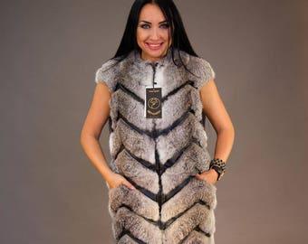 "Rabbit Fur Vest ""Rakuel"""
