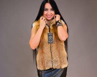 "Fox Fur Vest ""Noelia"""
