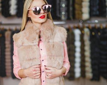 Fur Vest from rabbit