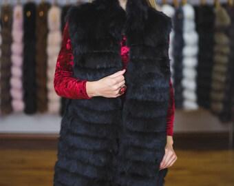 "Fur Vest from rabbit "" Asel"""