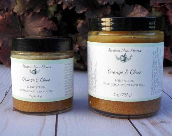 Featured listing image: Fall Body Scrub | Orange and Clove Body Scrub | Organic Autumn Body Polish | Hygge Skin Care | Orange Peel and Ground Clove Sugar Scrub