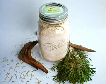 Fall Bath Salts Woodsy Spa Autumn Stroll Scent Calming Soak Focus Gifts for Him Gifts for Her ADD ADHD Uplifting Grounding Crisp Clean Scent