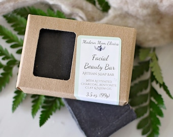 Facial Beauty Bar | Face Wash | Facial Soap Bar | Acne Wash  Antiaging Facial Soap | Detoxifying Soap | Antibacterial | Activated Charcoal
