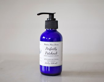 Patchouli Essential Oil Hand & Body Lotion | Perfectly Patchouli | Patchouli Moisturizer | Patchouli Cream | Natural and Organic Lotion