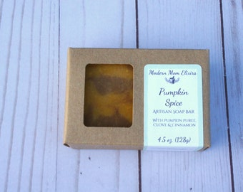 Pumpkin Spice Artisan Soap | Handmade Organic Pumpkin Soap | Artisan Soap made with Organic Pumpkin grown in my gardens | Fall Soap Bar