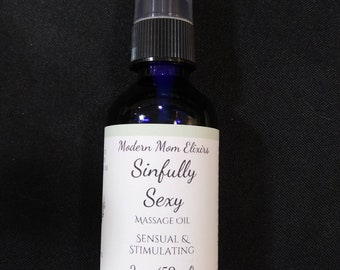 Sinfully Sexy Sensual Massage Oil, Sexual Massage, Love Oil, Couples Massage Oil Gift, All Natural, Organic, Essential Oil, Sex Life, Erotic