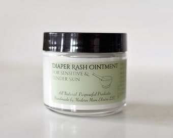 Diaper Rash Ointment | Soothing Diaper Balm | Natural Diaper Rash Cream | Herbal Rash Ointment | Organic Diaper Rash Balm | Baby Butt Balm