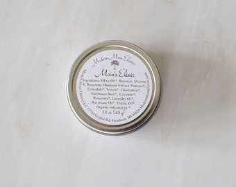Mom's Elixir | Herbal Healing Salve | Natural Healing Salve | Organic Antiseptic Salve | Kid Safe Wound Care | Postpartum Perineal Care
