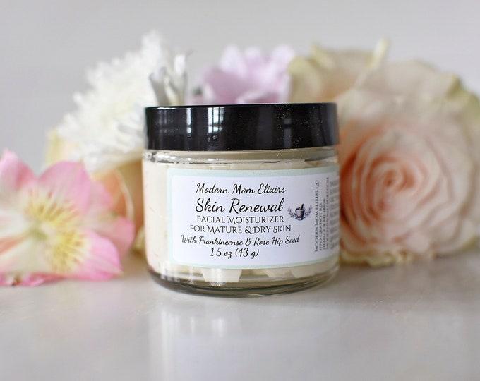Featured listing image: Skin Renewal Facial Moisturizer | Anti Aging Moisturizer | 2 oz Natural Anti-Aging Cream | Mature Skin Care | Plant Base Organic Skincare