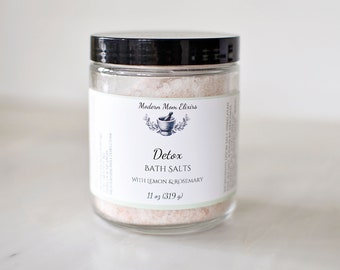 Detox Bath Salts | Body Detoxification Soak | Cold Care | Get Well Soon Gift | Workout Bath Salts | Overindulgence | Uplifting | Stimulating