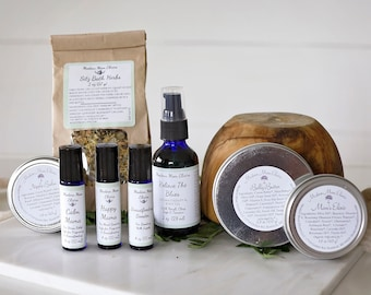 Postpartum Gift Basket | Natural Postpartum Care | Herbal Recovery Kit | Organic New Mom Recovery Care Package | Fourth Trimester Care Set