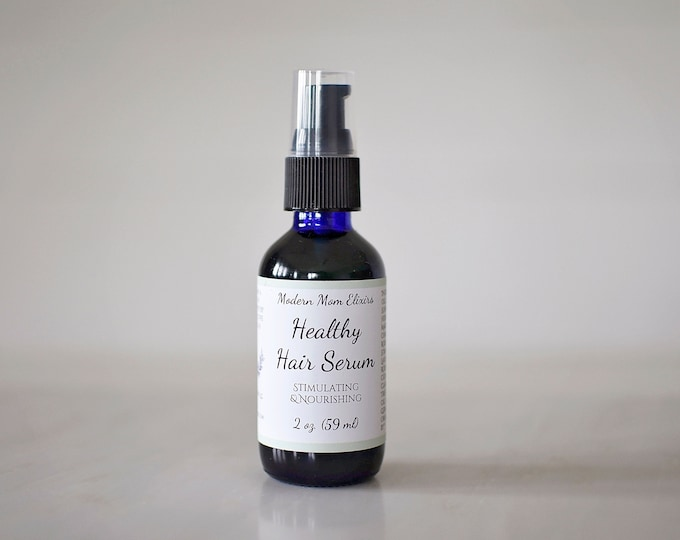 Featured listing image: Healthy Hair Serum | Hair Growth Oil | Natural Haircare Oil | Herbal Elixir | Dry Scalp Tonic | Thinning Hair Treatment | Vegan Hair Product
