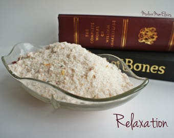Relaxation Bath Salts, Relax Spa, Essential Oil, Calming Soak, Stress soak, Sleep Well, Tension Release, Gifts for Her, Gifts for Him, Bliss