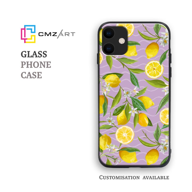 Personalised Pattern Cover Limoncello Phone Case Tempered Glass Case for All Apple iPhone /& Samsung Galaxy Models