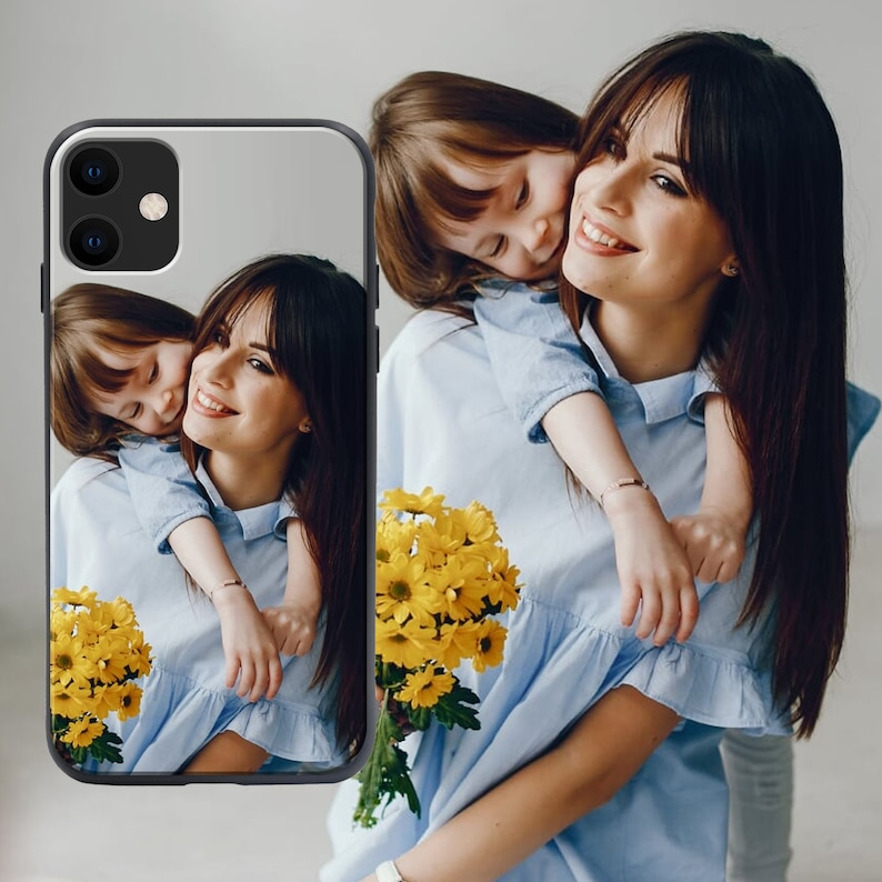 Custom Phone Case Tempered Glass for All Apple iPhone /& Samsung Galaxy Models Personalised Photo Print Phone Case