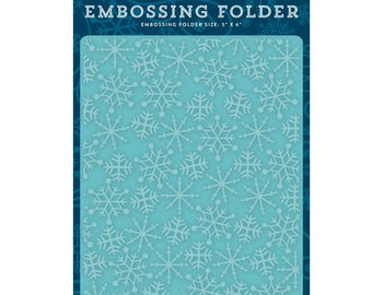 Frosty Snowflakes Embossing Folder, Echo Park Paper Embossing Folder, Falling Snow, Snowfall